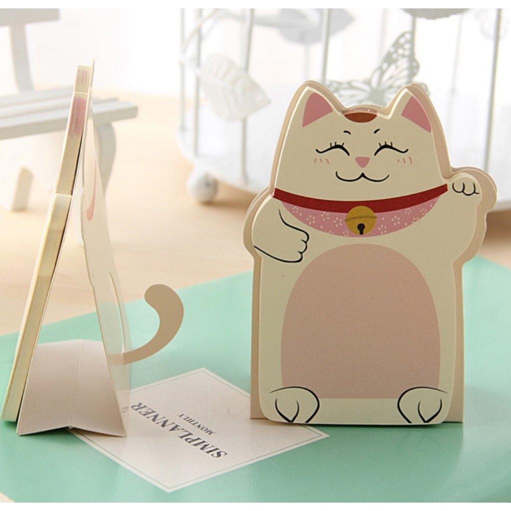 KAWAİ Kawaii Big Cat Post-it, Kedili Post It Notluk, Yeni sıfır